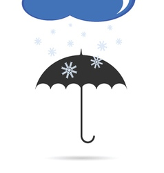 umbrella with snow color vector image vector image
