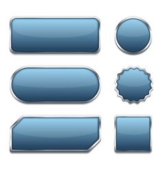 Blue Web Buttons vector image vector image
