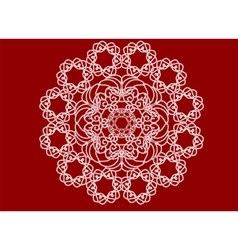 handmade lace vector image vector image