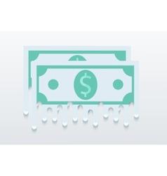 modern flat money background Eps 10 vector image