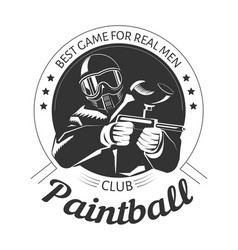 paintball sport club with best game for real men vector image