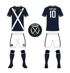 Soccer kit football jersey template for Scotland vector image