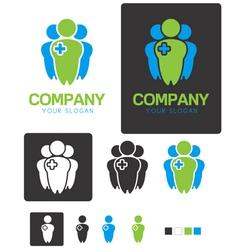 Social Health company identity logo template vector image vector image