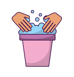 laundry bucket isolated icon vector image vector image
