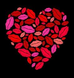 Lipstick heart vector image vector image