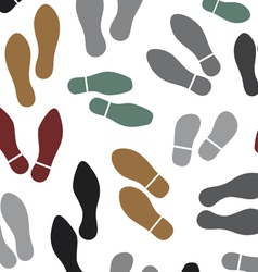 shoes silhouette seamless background vector image