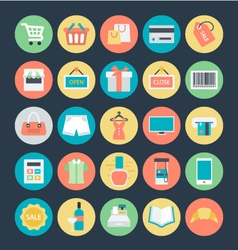 Shopping Colored Icons 1 vector image