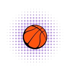 Basketball ball icon comics style vector image