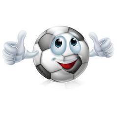 cartoon soccer ball character vector image