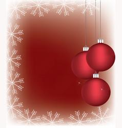 christmass balls with a snowflake frame vector image