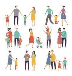mother father and childrens of vector image