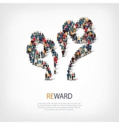 reward people sign 3d vector image vector image