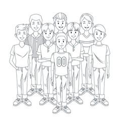 young boys cartoon vector image