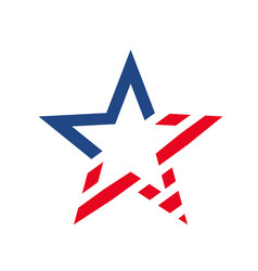 american star like usa flag vector image