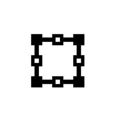 architect plan flat icon vector image