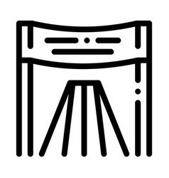 athlete personal chair icon outline vector image