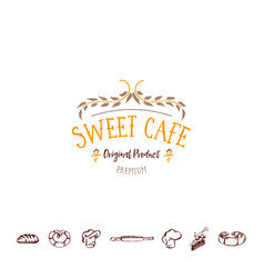 Badge for small businesses - sweet cafe the vector