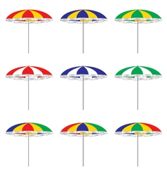 Beach umbrella isolated on white background vector image vector image