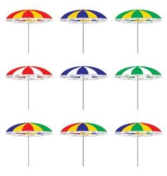 Beach umbrella isolated on white background vector