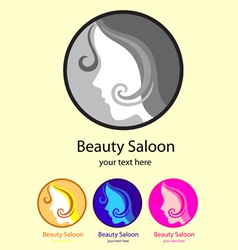 Beauty saloon logo vector