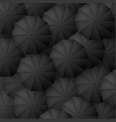 black umbrellas background classic parasol vector image
