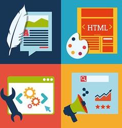 blog concept vector image