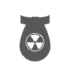 Bomb sign on white vector