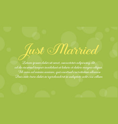 Collection wedding modern card style vector