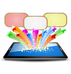 Colorful marquee on tablet PC vector