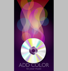 Compact disc music composition vector