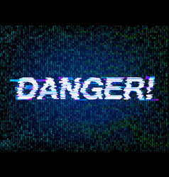 Computer hacked programming and coding error vector