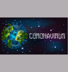 Coronavirus covid19-19 infects planet earth vector