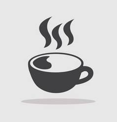 cup of coffee hot vector image