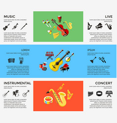 Digital blue music instruments vector