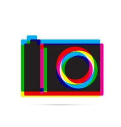 Digital camera icon with shadow vector