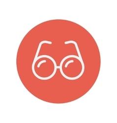 Eyeglasses thin line icon vector