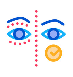 Eyelid surgery before and after icon vector