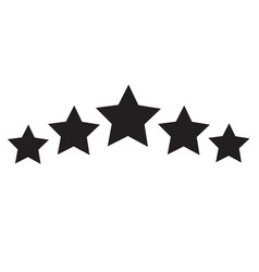 Five star icon on white background 5 star sign vector
