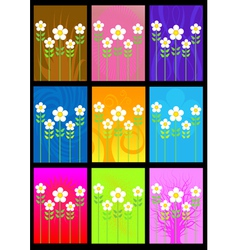 flower cards vector image