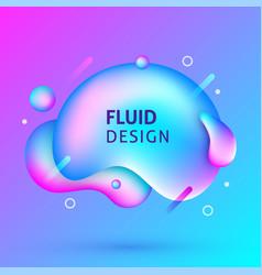 fluid design background banner vector image