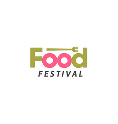 food festival logo template design vector image