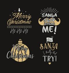 funny merry christmas graphic prints set t shirt vector image