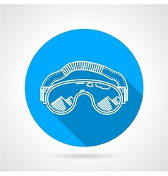 Goggles circle flat icon vector