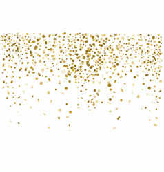 golden confetti isolated on white background vector image
