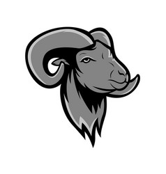 grey goat mascot logo strong face goat vector image