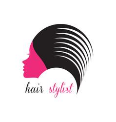 hair stylist logo beauty salon logo vector image