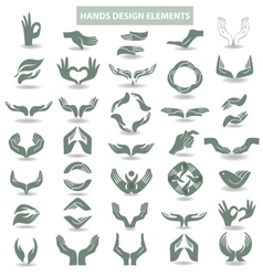 Hands design element vector
