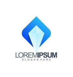 ice logo design vector image
