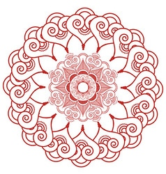Indian henna tatto inspired lace shapes wreath vector