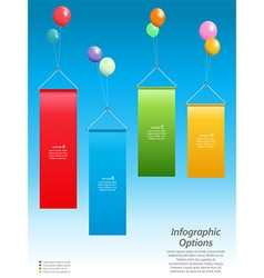 Infographic banners and balloons vector